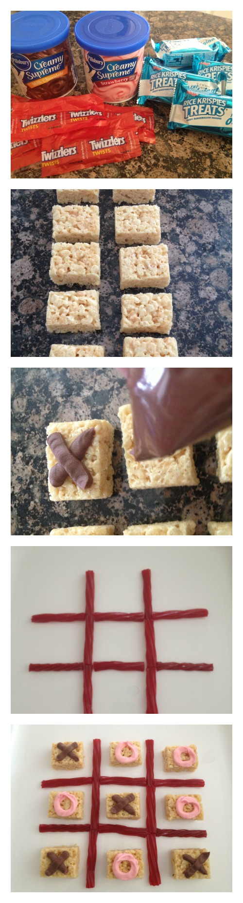 Valentine's Day Edible Tic Tac Toe INstructions