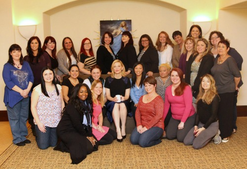 Cate Blanchett Interview Group Photo