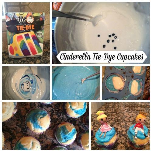 Cinderella Tie-Dye Cupcakes