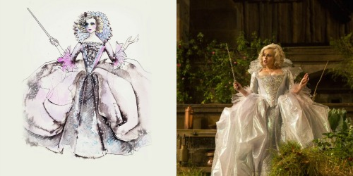Fairy godmother Gown and Sketch