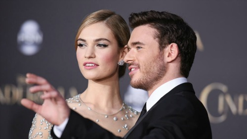 Lily James and Richard Madden at Cinderella Premiere