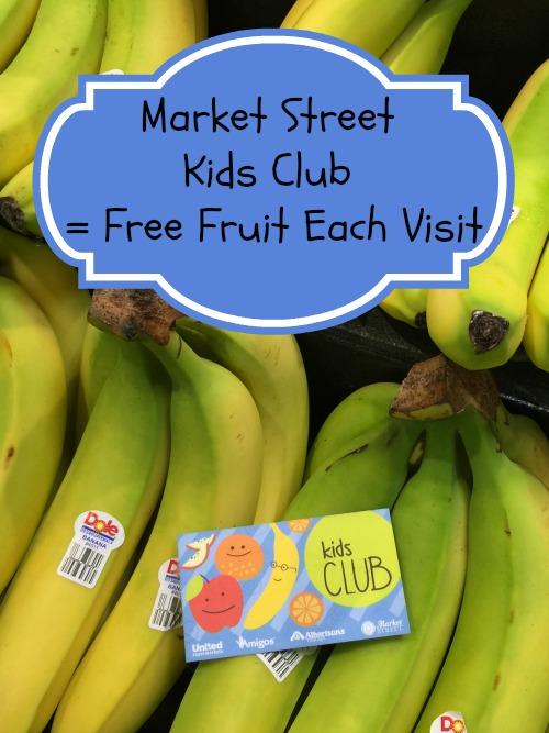 Market Street Kids Club Free Fruit