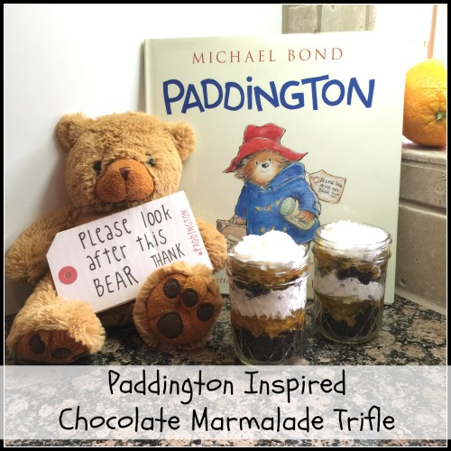 Paddington Inspired Chocolate Marmalade Trifle