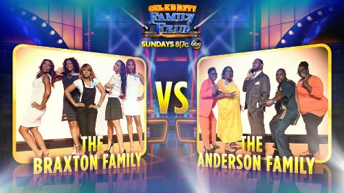 Celebrity Family Feud Braxton v Anderson