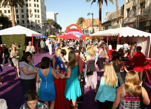 Inside Out Red Carpet Pre Party Aerial View