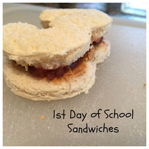 1st Day of School Sandwiches