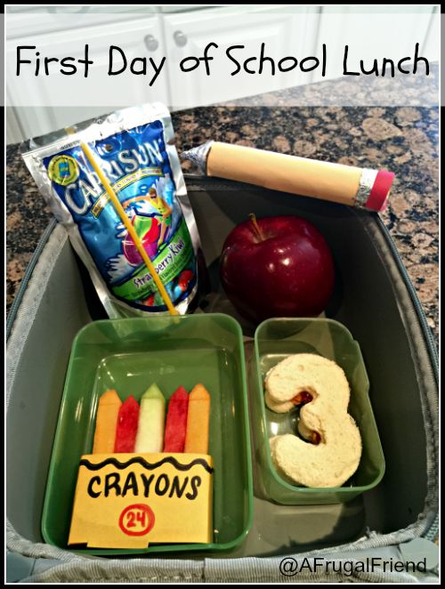 First Day of School Lunch 1