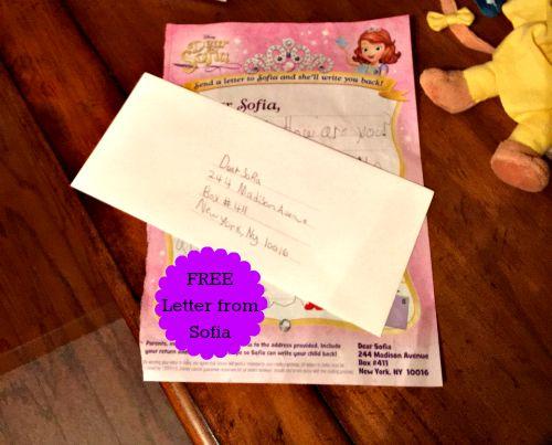 Dear Sofia letter