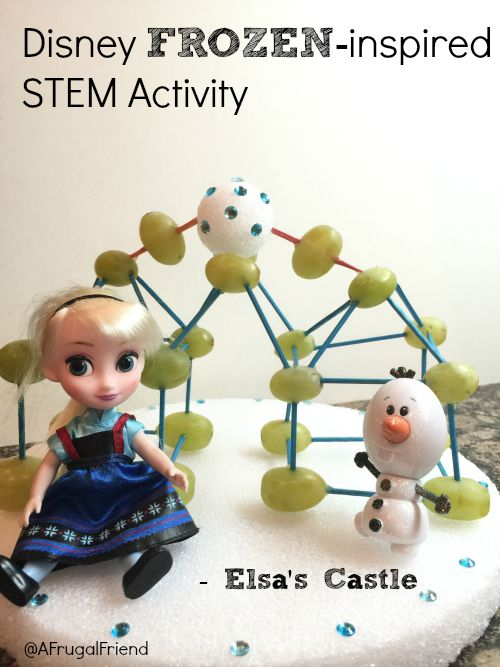 Disney Frozen inspired stem activity Elsa's castle