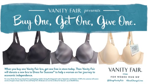 Vanity Fair Dress for Success Promotion