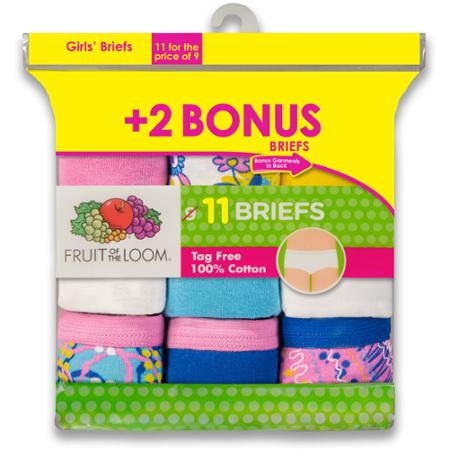 Fruit of the Loom holiday pack girls