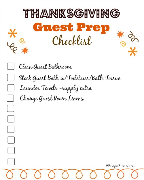 Thanksgiving Guest Prep Checklist small
