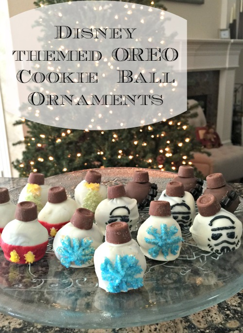 making disney themed oreo cookie ball ornaments star wars too finding debra