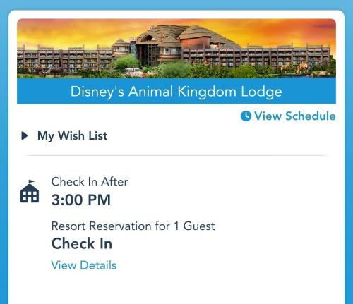 Animal Kingdom Lodge Reservation
