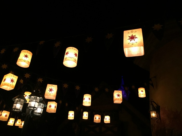 Tangled Lanterns at night