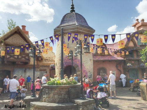 Tangled Restroom Courtyard Area