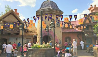 Tangled Themed Rest Area Disney World