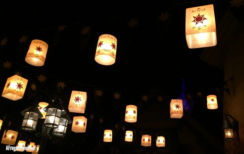 Tangled Themed Restroom Disney World at Night