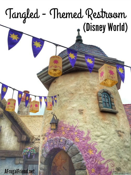 Tangled Themed Restroom at Disney World