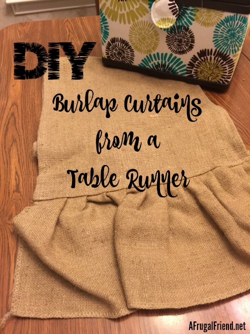 DIY Burlap Curtain from Table Runner