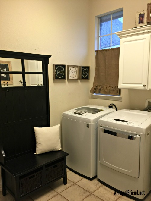 Shabby Chic Laundry Room Makeover on Budget