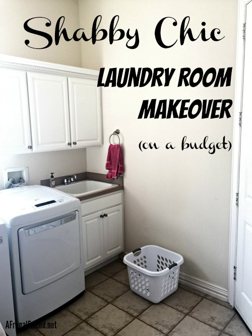 Shabby Chic Laundry Room Makeover