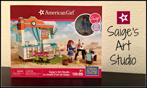 American Girl Mega Bloks Saige's Art Studio