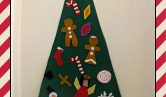 DIY Felt Christmas Tree for Kids (Ornaments just Stick by Themselves) #DIY