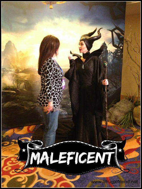 MALEFICENT meeting at Disneyland