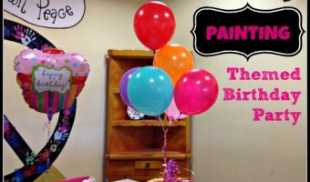 Painting Themed Birthday Party for Kids – So Fun