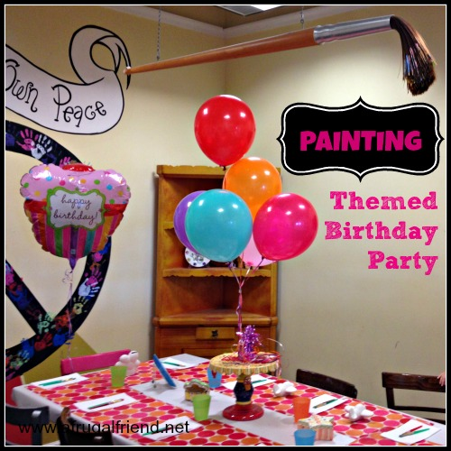 Painting themed birthday party for kids so fun finding for Kids paint party