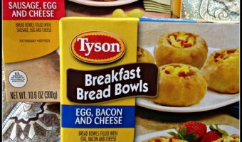Fun and Easy Kids Breakfast with Bread Bowls! #TysonBreakfast