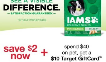 IAMS Dog Gift Card Offer at Target
