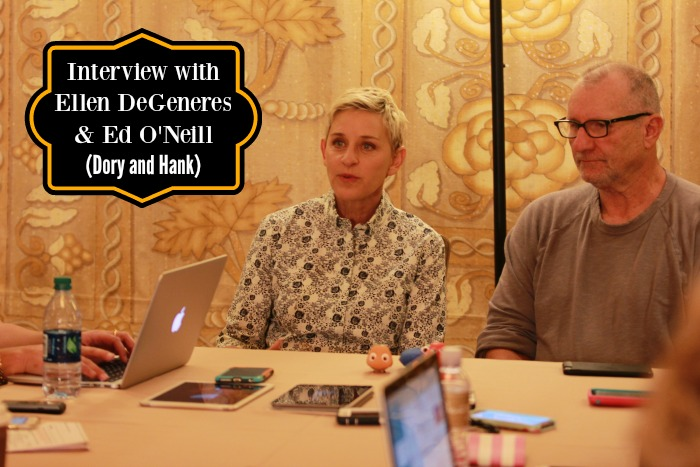 Interview with Ellen Degeneres and Ed O'Neill Finding Dory