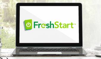 Computer Too Slow? First, FreshStart Your PC!