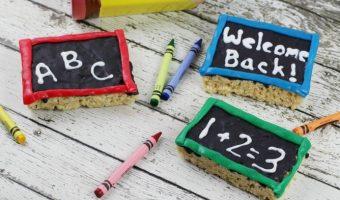 Chalkboard Rice Krispie Treats for Back to School