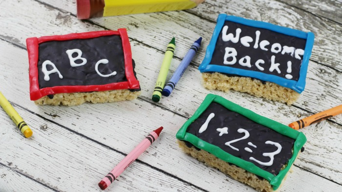 Chalkboard Rice Krispie Treats back to school