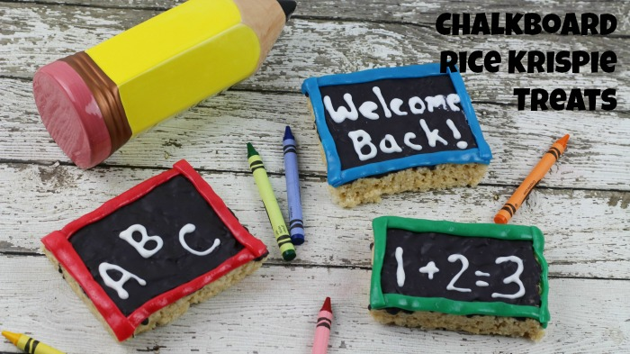 Chalkboard Rice Krispie Treats