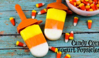 Candy Corn Yogurt Popsicles