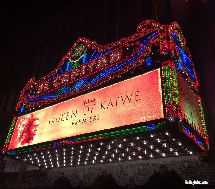 Marquee El Capitan Theater Queen of Katwe Premiere