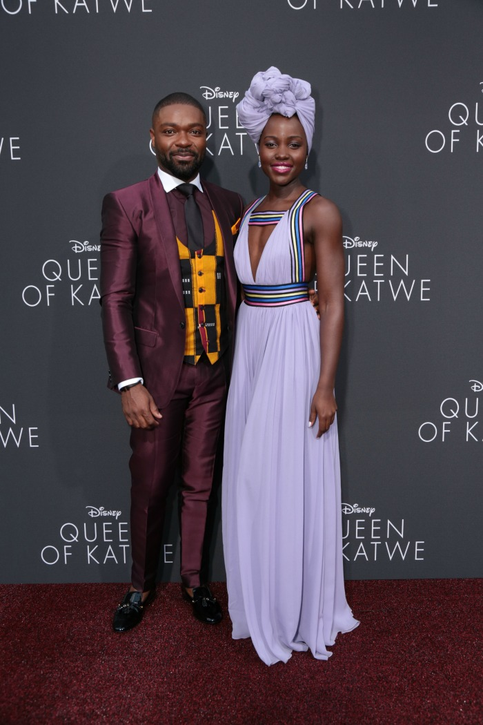 Queen of Katwe Red Carpet Premiere Lupita Nyong'o and David Oyelowo