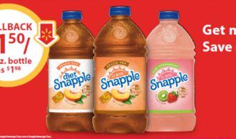 It's Rollback time at Walmart on Snapple® Tea! #SnappleRollback