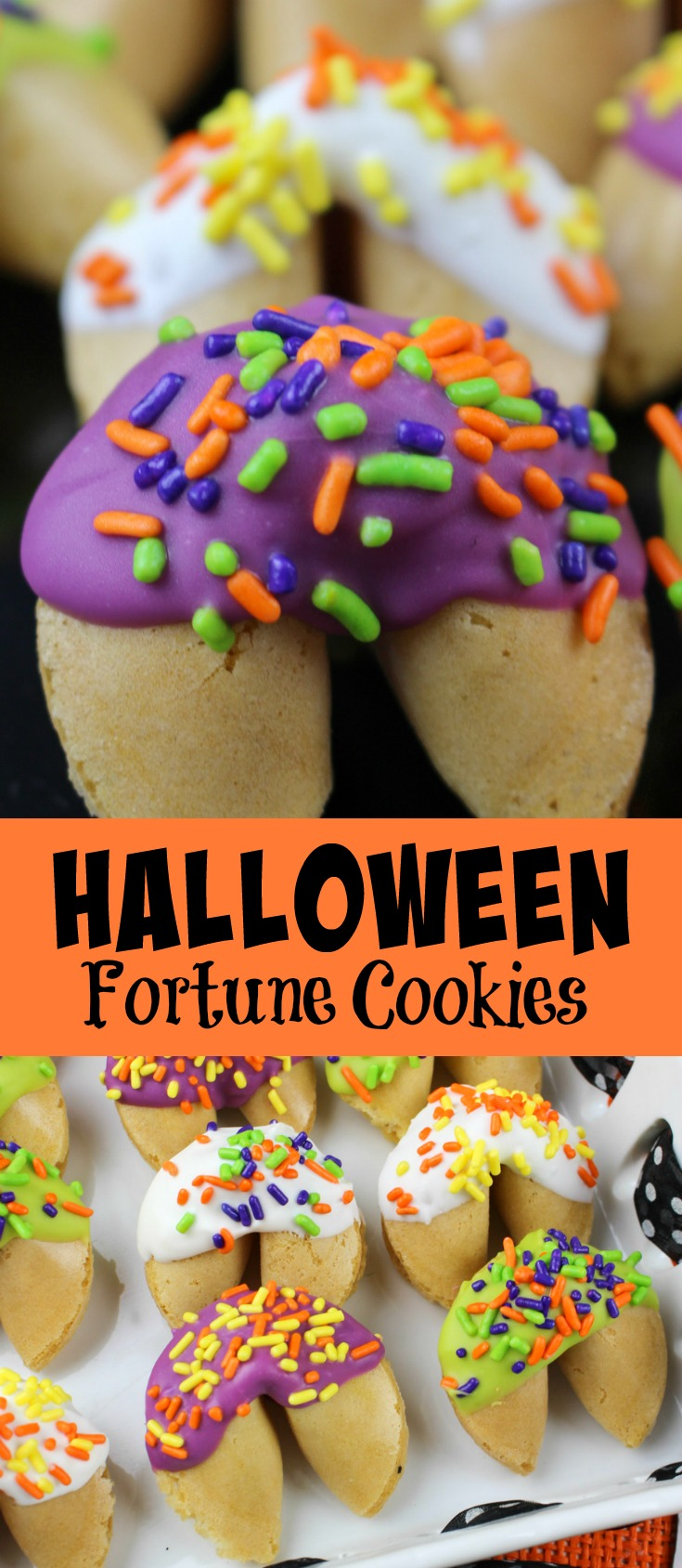 Halloween Fortune Cookies - ideal for Halloween parties, fall festivals of just fun treats for the kids at home!