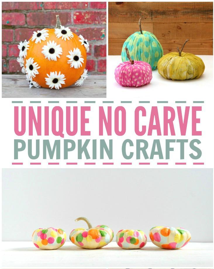 No Carve Pumpkin Crafts