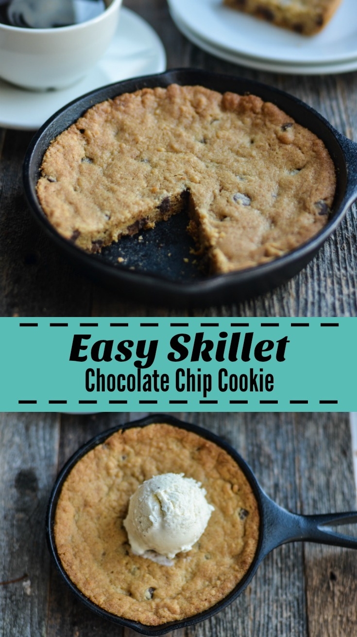 Easy Skillet Chocolate Chip Cookie Recipe