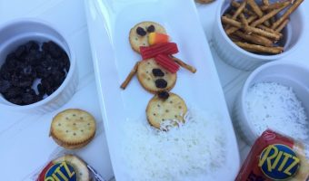 Easy Snowman Snack with RITZ Filled Sandwich Crackers