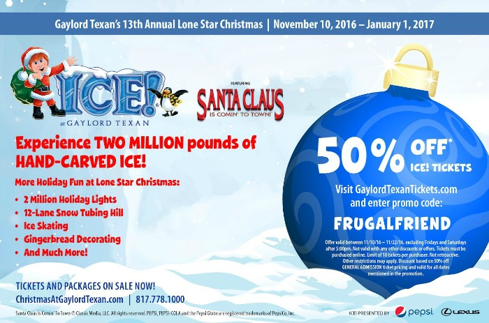 Ice at Gaylord Texan Coupon for 2016