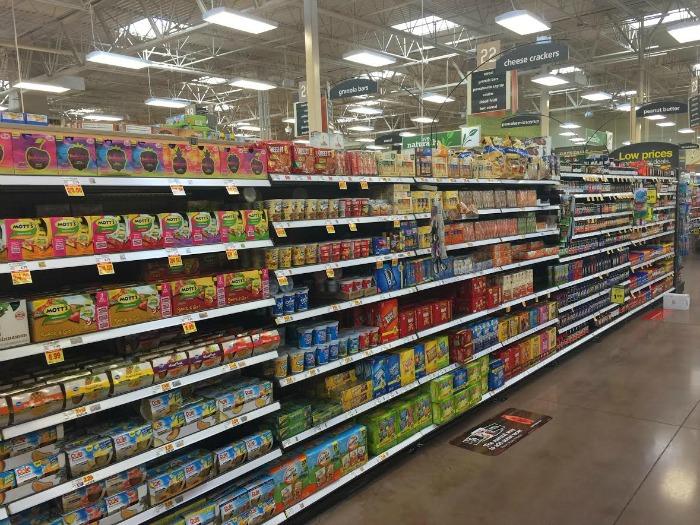 Kroger snack aisle