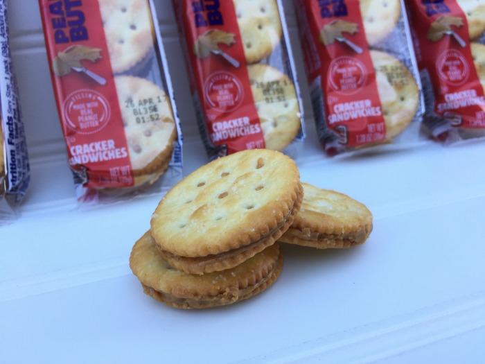 RITZ Peanut Butter Filled Sandwich Crackers 8 ct