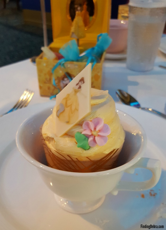 Belle Cupcake aboard the Disney Wonder